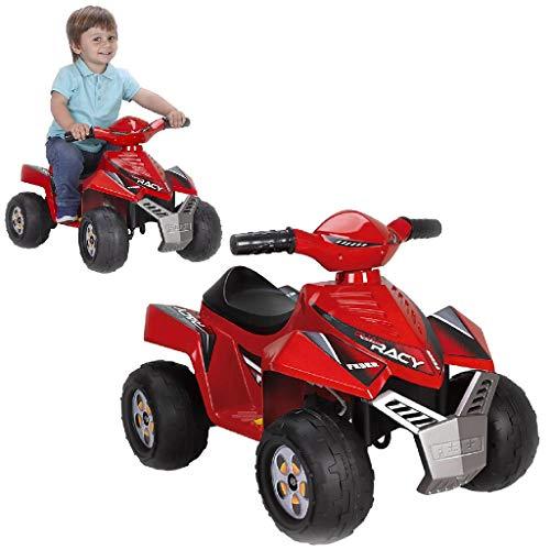 FEBER Racy - Quad Electrique pour Enfants de 12 mois à 3 ans, 6V, Rouge (Famosa 800011252)