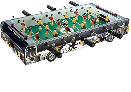 Intéressant Table Soccer Foosballs / table de baby-foot, Deluxe Mini, table de football, Foosball Famille, Divertissement Gam, Convient aux personnes de plus de trois ans, Noir ( Color : Black )