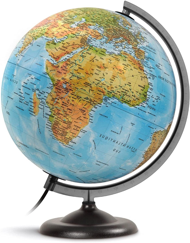 globe terrestre lumineux prix